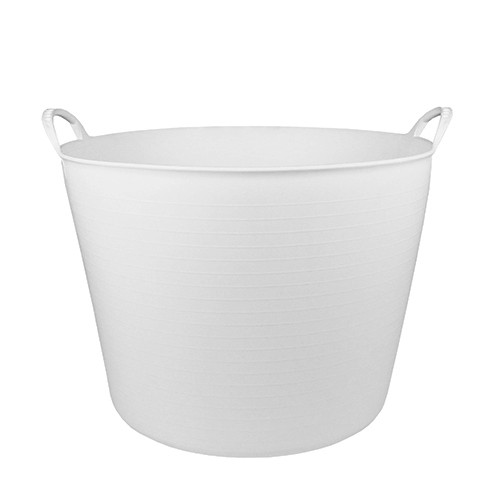 Debrasbak kunststof rond, wit, 42 liter