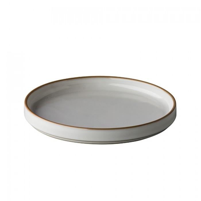 Bord Japan, white/grey, Ø 20 cm