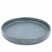 Bordje zwart, blauw gespikkeld, met opstaande rand, Ø17 cm