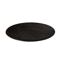 Dinerbord reliëf, zwart Ø 27,5 cm