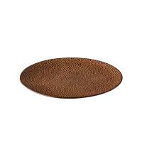 Dessertbord reliëf, bruin Ø 21 cm