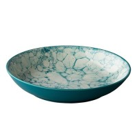 Diepbord Bubble, turquoise, Ø 21 cm.