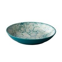 Diep bord Bubble, turquoise, Ø 21 cm