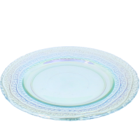 Bordje Rainbow glas, Ø 20 cm