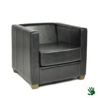 Black Velvet kunstlederen fauteuil
