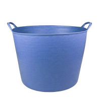 Debrasbak kunststof rond, blauw, 14 liter