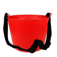 Debrasbak kunststof rood, incl. draagband