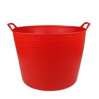 Debrasbak kunststof rood, rond 42 liter