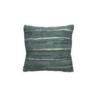 Kussen blauw met gouden rand 45x45 cm