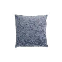 Kussen chenille, blauw 45x45 cm