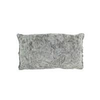 Kussen chenille, grijs 30x50 cm