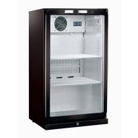 Display koelkast zwart, met glazen deur, 122 liter