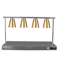 Warmtelamp 4-lamps, koper
