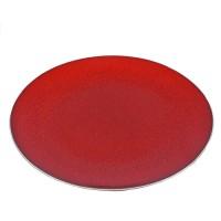 Bord Lava rood, Ø 27 cm.