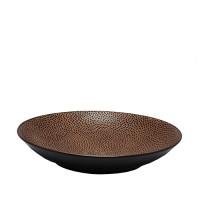 Diepbord reliëf Ø 25,5 cm, bruin