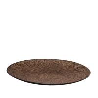 Dinerbord reliëf Ø 27,5 cm, bruin
