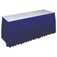 Buffetrok blauw, lengte 595 cm.