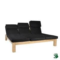 Kudeta lounge bed, met zwarte kussens