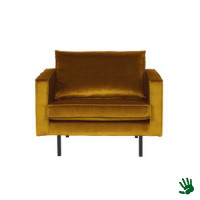 Home - Fauteuil, earthy yellow, velvet
