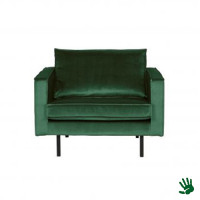 Home - Fauteuil, forest green, velvet