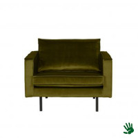 Home - Fauteuil, olive green, velvet