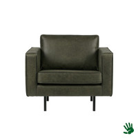 Home - Fauteuil, raw green, leer
