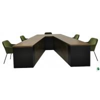 Studio tafel v-vorm, lxbxh 330x(250-140)x75.5cm