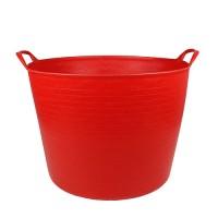 Debrasbak kunststof rond, rood, 42 liter