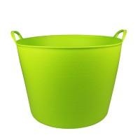 Debrasbak kunststof rond, licht groen, 42 liter