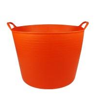 Debrasbak kunststof rond, oranje, 42 liter
