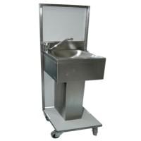 Handenwasstation, wasbak op voet