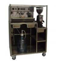 Espressoapparaat 2 groeps vol automatisch, incl. koffiemolen
