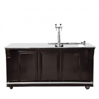 Houten bar, incl. flessennest en koeling