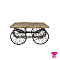 Indiase kar, hout (4 wielen)