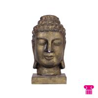 Boeddha hoofd, brons