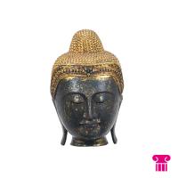 Boeddha hoofd, groen/goud
