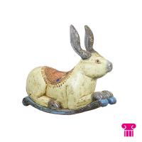 Groot liggend konijn, hout
